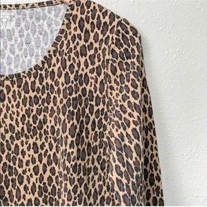 Leopard Print Long-Sleeve Tee